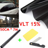 50cm X 7m 15% VLT Window Tint Film Black Roll for Car Auto House Office Commercial