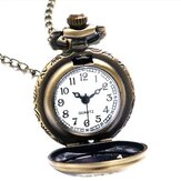 Alice In Wonderland Drink Me Rabbit Flower Key Pocket Watch