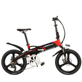 LANKELEISI G660 12.8ah 48V 400W 20Inch Folding Moped Bicycle 100Km Mileage Max Load 120kg With EU Plug