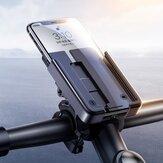 Joyroom 360 ° fokos forgatású alumíniumötvözetű mobiltelefon kerékpár motorkerékpár kormány kormány tartó konzol iPhone 12 POCO X3 készülékekhez 4,7-6,5 hüvelyk közötti