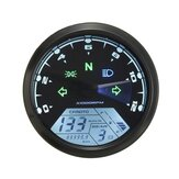 12000RMP LCD Digital Speedometer Odometer Motorcycle 1-4 Cylinders