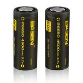 5ピースBasenBS26003266504500mah3.7ボルト60a保護されていないフラットトップ充電式リチウムイオンバッテリー