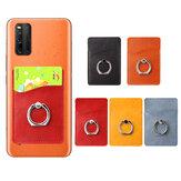 Universel 2 en 1 3M autocollant adhésif en cuir PU support de téléphone portable anneau support avec fente pour carte pour tous les smartphones Xiaomi Poco F2 Pro Redmi note 9S