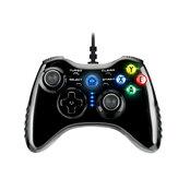 Controlador de juegos inalámbrico con cable G1 USB para PC, computadora, TV, hogar, doble vibración Gamepad para Steam PS3 PC