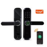 Tuya WiFi Fingerprint Smart Door Lock Inteligent Digital Door Lock Electronic Password RFID Card APP Unlock Home Lock