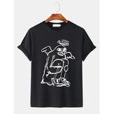 T-shirt larghe a maniche corte da uomo