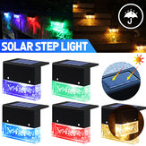 1 / 4Pcs Solar LED Deck Lights Outdoor Garden Pathway Stairs Step Fence Lampen Waterdicht voor Courtyard Park Balcony