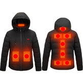 3-Modes Control Winter Heated Jacket USB Charging Coat Warm Up Heated Clothing Washable Soft Safe Top