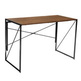 Douxlife DL-OD02 Bureau Table D'écriture Fladable Conception Facile Assemable X forme Structure pour Bureau À Domicile