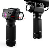 2 en 1 XANES TL01 650nm Red Laser Sight Foregrip Pointeur Laser Type de lampe de poche Rail Mount Locator