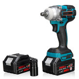 21V 330Nm 10000mAh Lithium Electric Impact Wrench Cordless with 2 Batteries