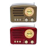 Portable Retro Radio AM FM SW bluetooth Speaker TF Card Slot Rechargeable