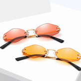 Womens Universal UV Resistence Hexagon Frameless zonnebril