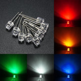 10pcs 5mm 5 Color Water Clear Flat LED Diodes Assortment DIY Light