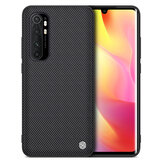 NILLKIN for Xiaomi Mi Note 10 Lite Case Anti-fingerprint Anti-slip Nylon Synthetic Fiber Textured Shockproof Protective Case Back Cover