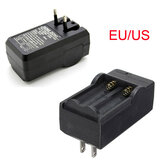 EU/US Rechargeable 3.7V 18650 Dual Li-ion Battery Charger