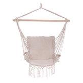 Cadeira de rede de algodão Cadeira suspensa de segurança balançando Carga máxima 120 kg Jardim interno externo camping