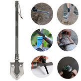 IPRee® High-carbon Steel Multifunctional Tri-fold Shovels Outdoor Portable Shovel Survival Tools Kit