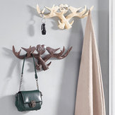 Love Vintage Deer Antler Wall Hanger Decoration Coat Hook And Hat Rack 4 Color Holder