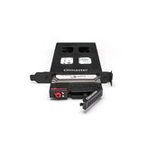 OImaster 2.5 Inch PCI Hard Disk Bay Metal Hard Drive Dock 2.5'' SATA SSD HDD Adapter Lock Design