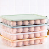 Bakeey Kitchen 24 Grid Egg Carton Refrigerator Storage Box Portable Picnic Plastic Egg Carton Egg Tray
