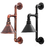 Industrial Steampunk Pipe Wall Lamp Vintage Metal Sconce Retro Light Bar Decor