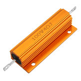 RX24 100W 4R 4RJ Metal Aluminum Case High Power Resistor Golden Metal Shell Case Heatsink Resistance Resistor