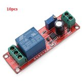 10pcs Delay Timer Switch Adjustable 0-10sec With NE555 Electrical Input 12V 10A