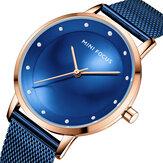 ミニフォーカスMF0332Lファッション女性腕時計ダイヤモンドダイヤル防水ステンレス鋼メッシュベルトストラップシンプルなレディクォーツ時計