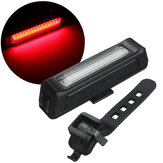 BIKIGHT 6-Modes 100LM COB Bicycle Red Warning Light Night Cycling Bike Front Rear USB Rechargeable LED Light Waterproof Taillight Bike Light