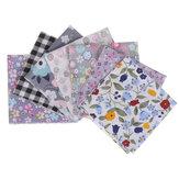25x25cm 7 pièces feuille Patchwork bricolage couture Style mixte imprimé floral 100% coton tissu tissu matériel