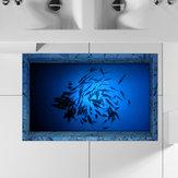 PAG 3D Banyo Anti Kaygan Deniz Balıkları Desen Su Geçirmez Taban Stickeri Yıkanabilir Duş Odası Dekoru