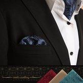 Erkekler için Moda Mendil Suit Batı Style Dot Erkekler Paisley Cep Kare Kravat Mendiller