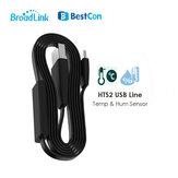 Broadlink HTS2 USBケーブル温度および湿度センサースマートリンケージライン、スマートホーム用RM4 Pro付き