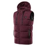 Chaqueta cálida de invierno con calefacción eléctrica por USB unisex Ropa de abrigo con capucha M-7XL