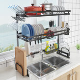 Stainless Steel All-In-One Versatile Organizer Dishes Rack for Kitchen Storage Tool
