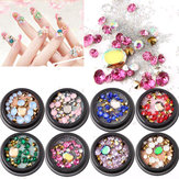 1 fles diamanten nagels sticker Colorful kralen kristal