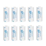 10Pcs Astrolux® C2650 5000mAh 3C 3.7V 26650 Li-ion Battery Unprotected 15A High Performance Rechargeable Lithium Power Cell For Flashlights RC Toys Remote Control Gamepad