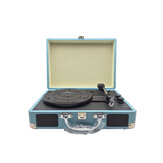 Phonograph Turntables Record Player Retro Vinyl Audio USB Bluetooth Speaker Suitcase Record Player