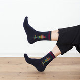 Cotton Middle Tube calcetines Breathable Crew calcetines