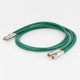 Cabo de áudio RCA macho para macho MCINTOSH banhado a ouro puro cobre HiFi RCA para RCA