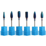 Pro Electric Blue Cylinder Coated Carbide File Wiertła Nail Art Manicure Pedicure Kit