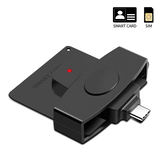 Type-C CAC Card Reader DOD Military USB-C Common Access CAC Credit Card SIM Smart Card Reader for Android Phones MacBook Pro