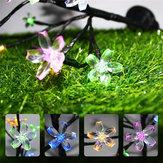 Rama de árbol de flor de cerezo con energía solar al aire libre Impermeable LED Cadena de luz de vacaciones para decoración de patio