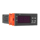 Geekcreit® STC-1000 110V / 220V / 12V / 24V 10A 2 wyjścia przekaźnikowe LED cyfrowy regulator temperatury Inkubator termostatu z czujnikiem grzałka i chłodnica