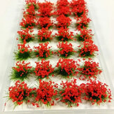 28Pcs Scene Mini Flower Cluster Miniature Model Landscape Sand Table Decorations