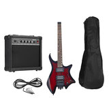 IRIN R-700 Headless Electric Guitar Set Dual Pickups Built-in String Lock Module with Speaker