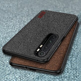 Bakeey Luxury Canvas Fabric Splice Soft Silicone Custodia protettiva antiurto per bordi per Xiaomi Mi Note 10 Lite Non originale