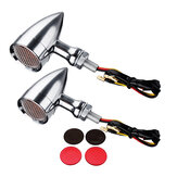 10mm Bullet Grill LED Clignotants Lumières Lampe Pour Harley Chopper Bobber