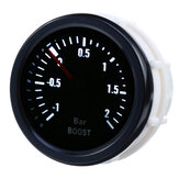 2Inch 52mm -1 To +2 Bar 12V Car LED Turbo Boost Pressure Gauge Meter Universal